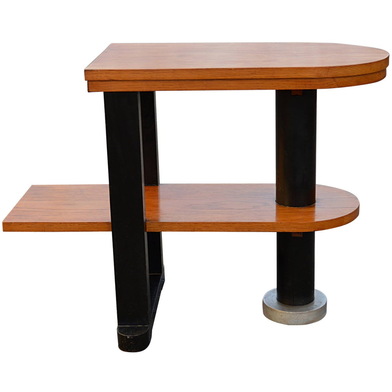 Unusual Deco Streamlined Side Table