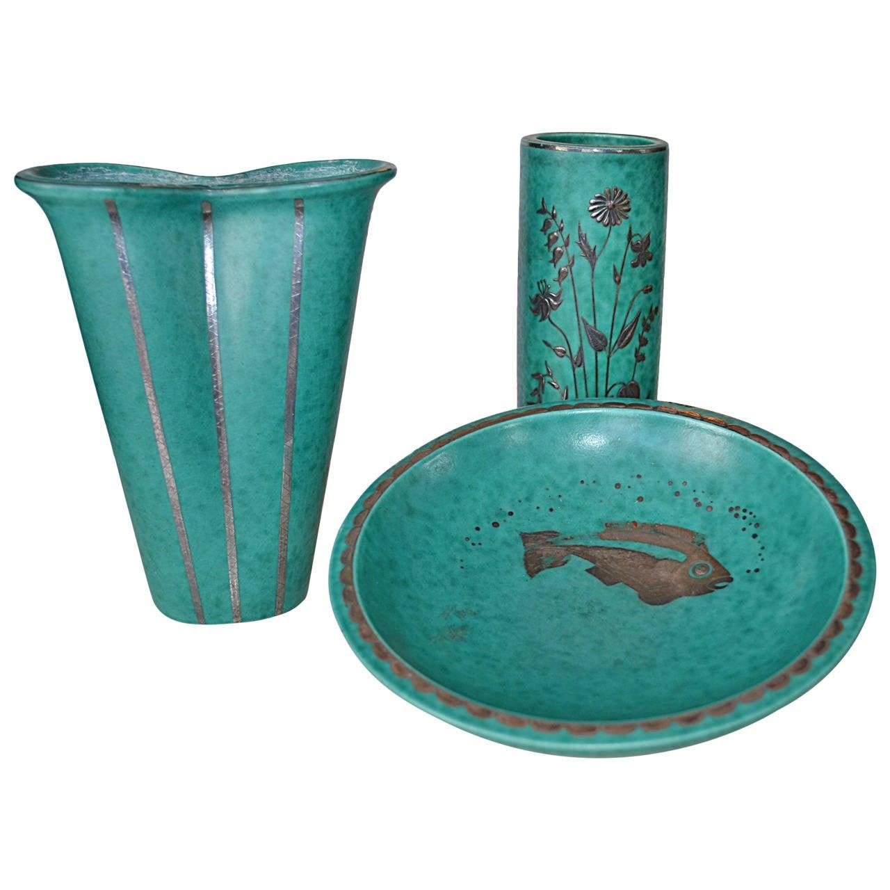 Wilhelm Kage Ceramics Argenta for Gustavsberg 1930's