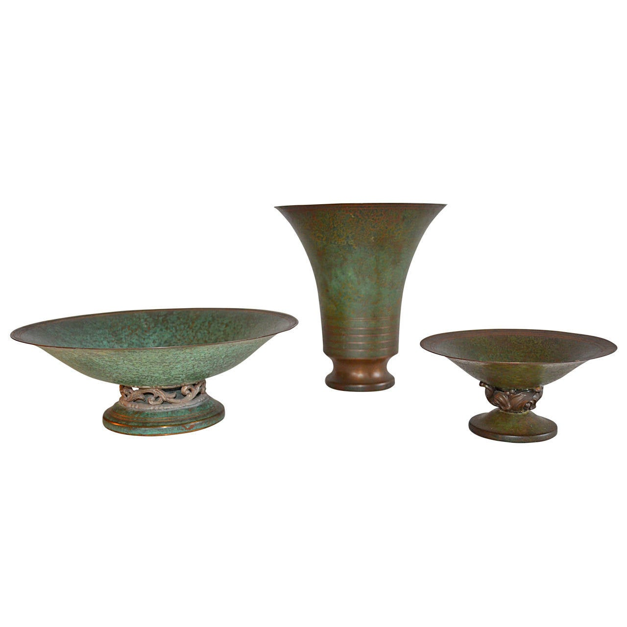 Carl Sorensen Three-Piece Bronze Table, Article Collection For Sale