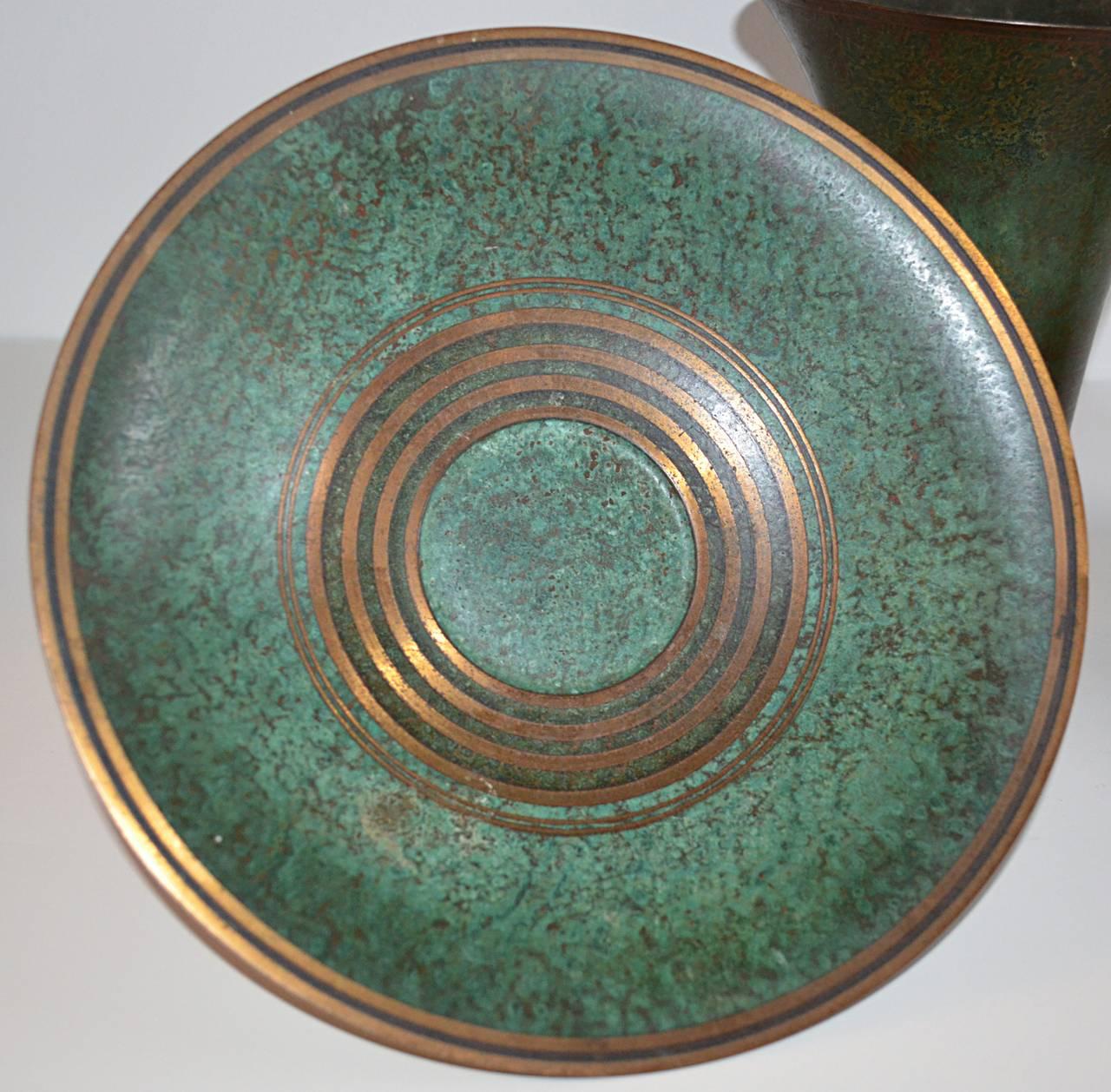 Carl Sorensen Three-Piece Bronze Table, Article Collection 6