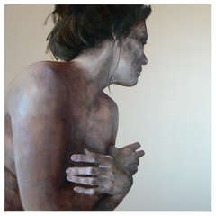 Woman's Figure Oil Painting on Wood by Macu Jorda