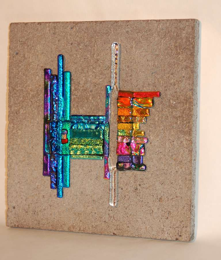 Glass And Stone Wall Hanging At 1stdibs
