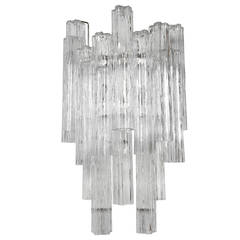 Massive Murano Tronchi Sconce by Camer