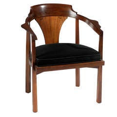Edward Wormley for Dunbar Horseshoe Armchair, circa 1950s