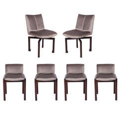 Set of Six Vladimir Kagan Dining Chairs
