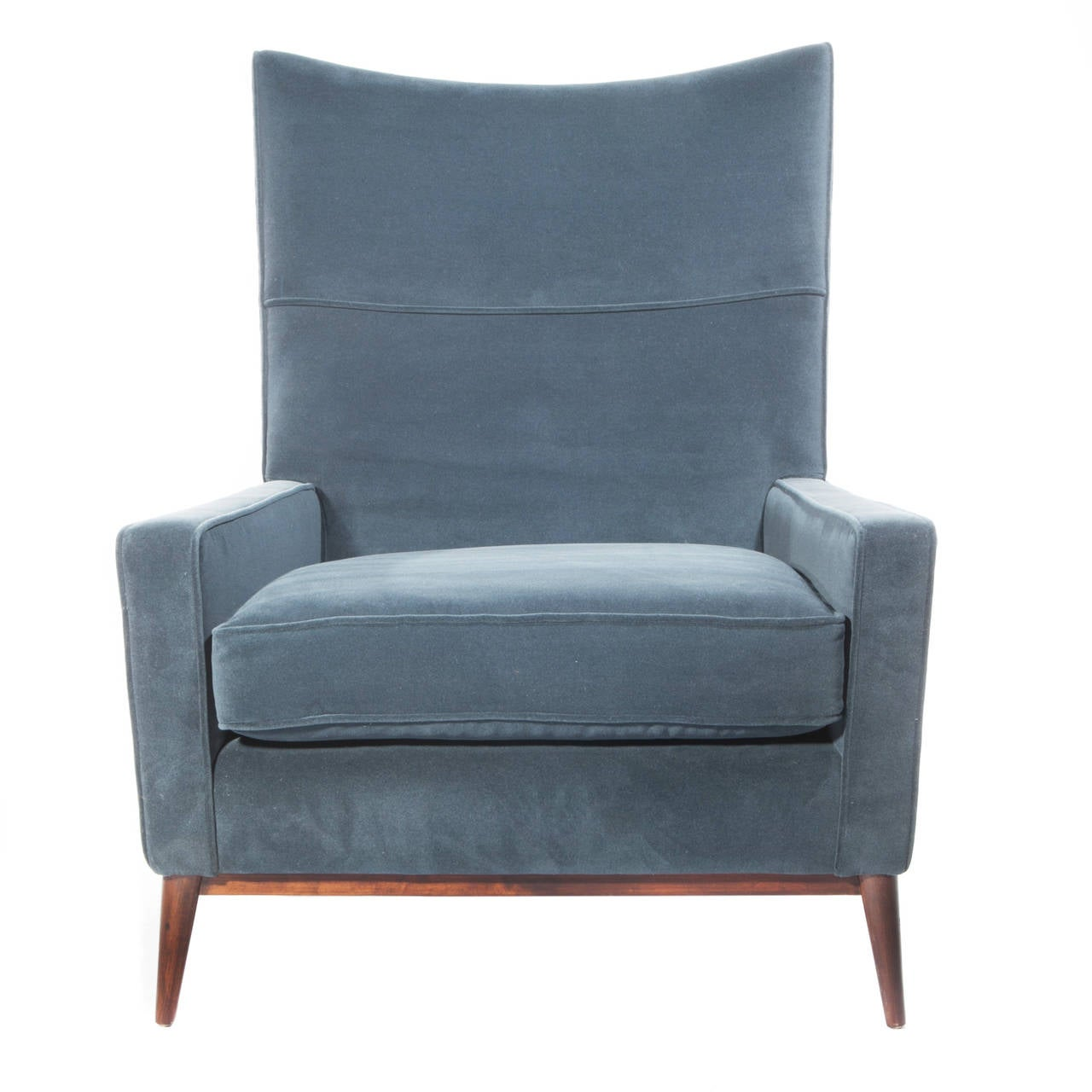 Paul McCobb High Back Lounge Chair And Ottoman At 1stdibs