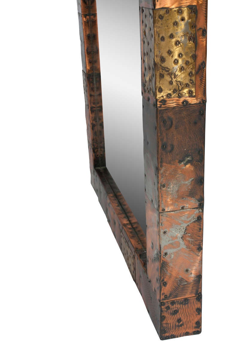 Paul Evans Patchwork Console and Mirror, circa 1970s For Sale 3