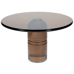 Rare 1970s Smoked Lucite Le Dome Dining Table by Charles Hollis Jones