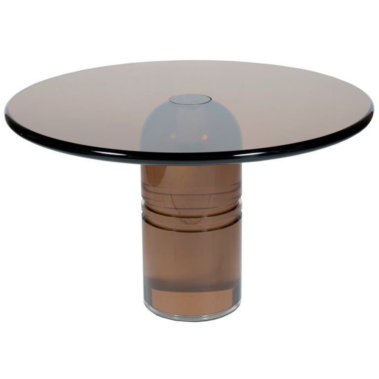 Lucite Dining Room Table: Rare 1970s Smoked Lucite Le Dome Dining Table By Charles