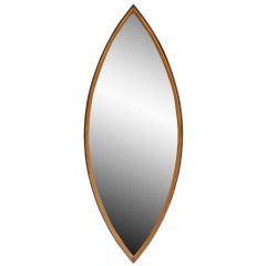 Gold Leaf Pointed Oval Mirror, Circa 1960s