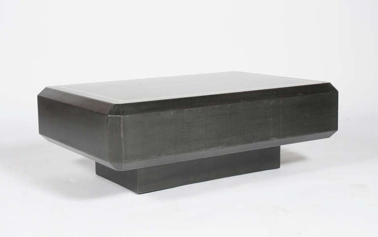 Karl Springer Coffee Table With Illuminated Base At 1stdibs