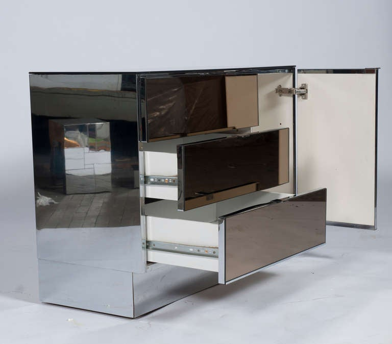 Ello Smoked Mirror Cabinets By Guy Barker At 1stdibs