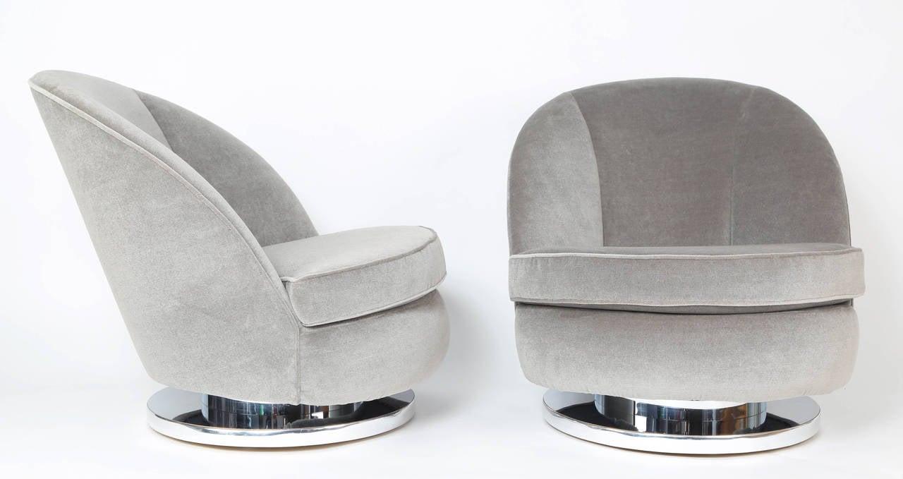 Milo Baughman Tilt And Swivel Lounge Chairs 2