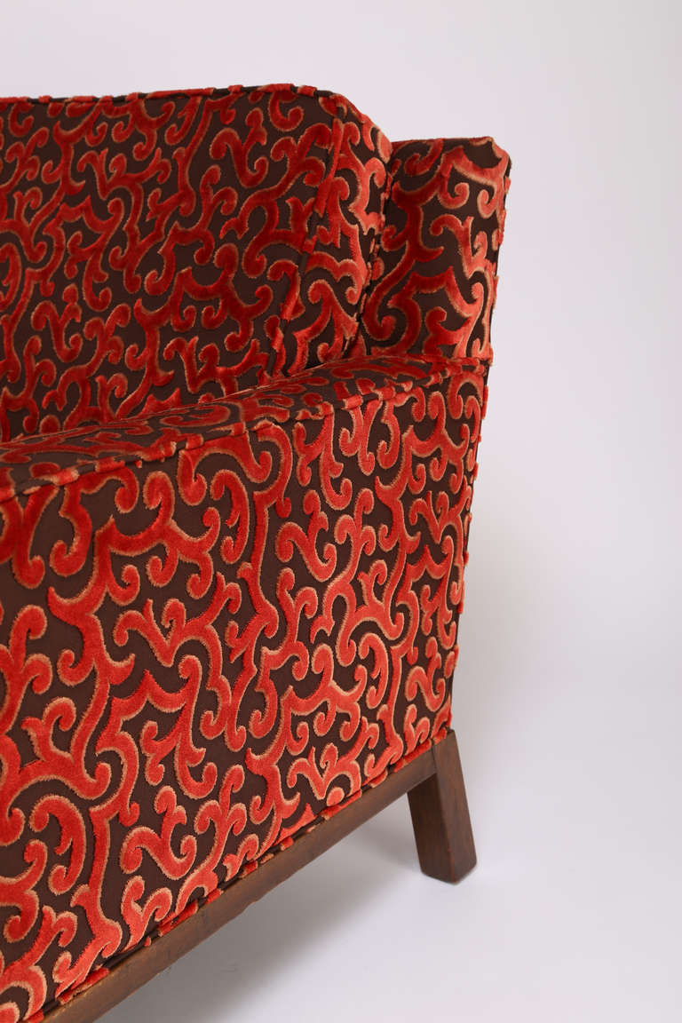 Upholstery 1960s Lounge Chair and Ottoman by Harvey Probber For Sale