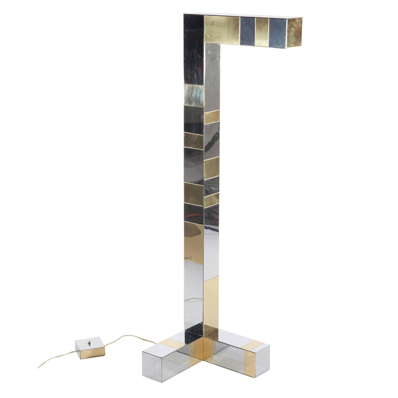 Sculptural floor lamp from Evans' blockbuster