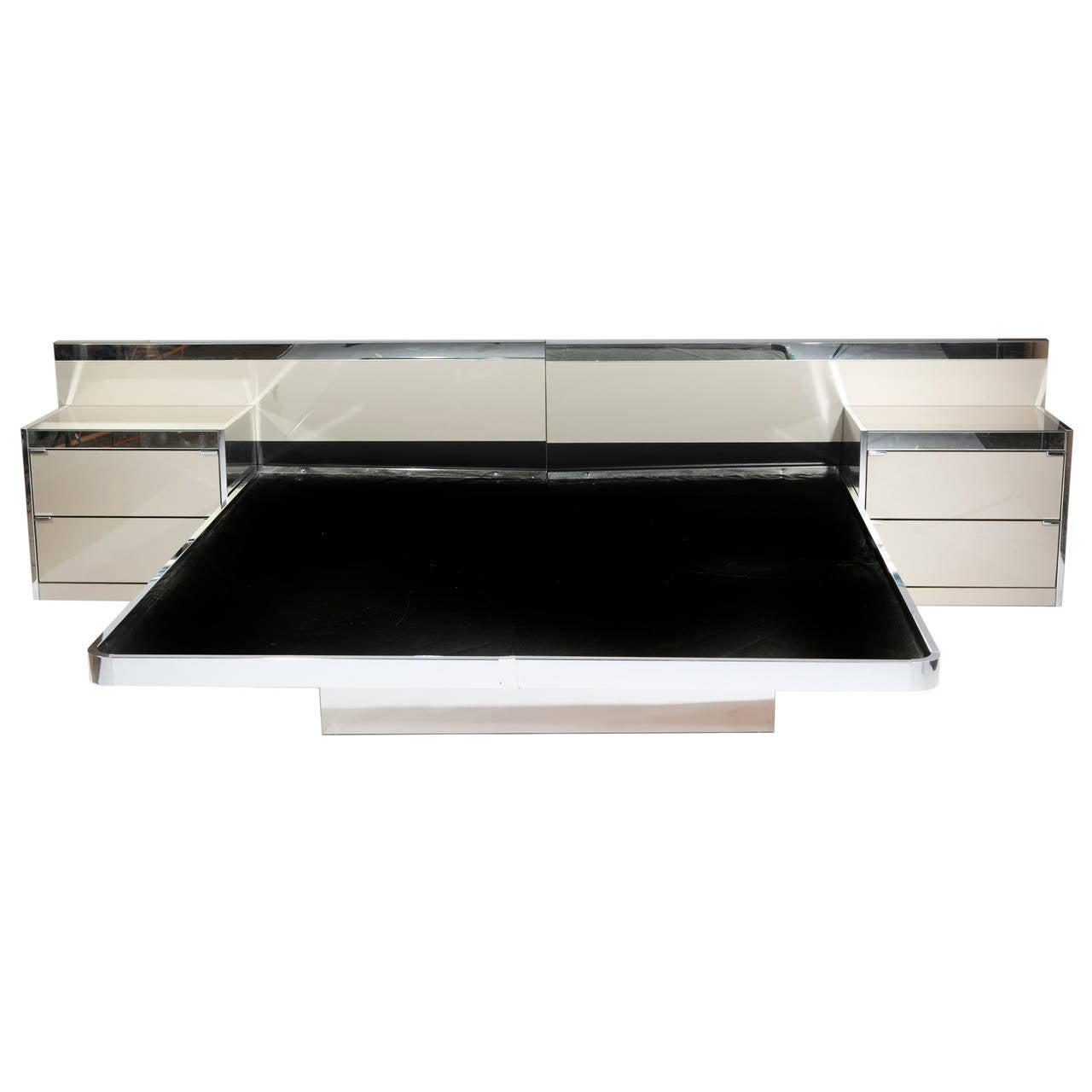 Illuminated Ello Platform Bed With Integrated Nightstands