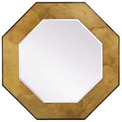 Karl Springer Octagonal Mirror in Parchment, circa 1970s