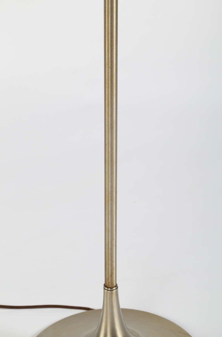 laurel brushed nickel floor lamp circa 1960s for sale at 1stdibs. Black Bedroom Furniture Sets. Home Design Ideas
