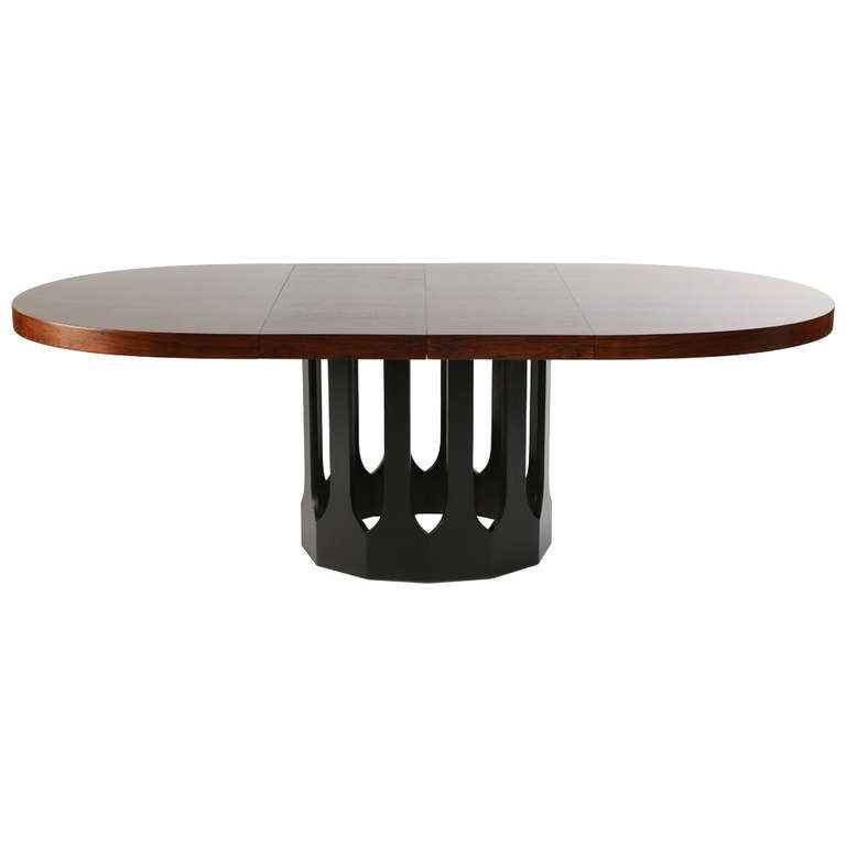 Rosewood Gothic Base Dining Table By Harvey Probber At 1stdibs