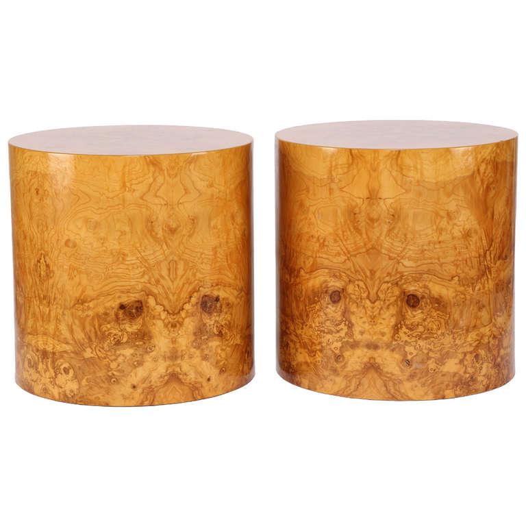 Matching Burl Drum Tables By Habitat 1