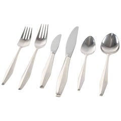 "Gio Ponti ""Diamond"" Sterling Flatware for Reed & Barton"