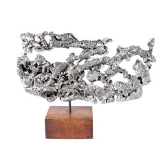 Organic Spill-Cast Aluminium Table Sculpture, Circa 1960s
