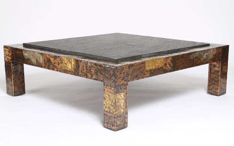 Paul evans slate top patchwork coffee table at 1stdibs Slate top coffee tables