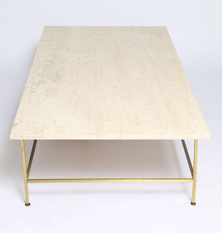 Bon Paul McCobb Travertine Coffee Table In Good Condition For Sale In Brooklyn,  NY