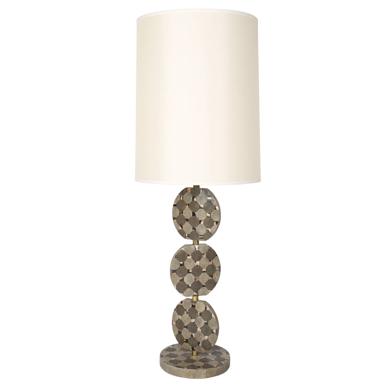 Sculptural Table Lamp in Shagreen and Horn by R & Y Augousti, circa 1980s