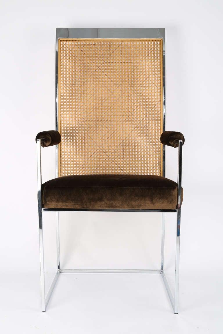 milo baughman furniture. milo baughman caneback dining chairs 2 furniture o