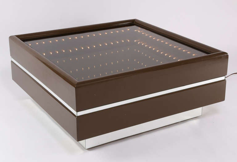 Italian Illuminated Infinity Coffee Table At 1stdibs