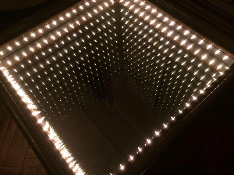 Italian Illuminated Infinity Coffee Table At 1stdibs