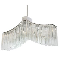 Murano 1970s Italian Glass Chandelier by Camer