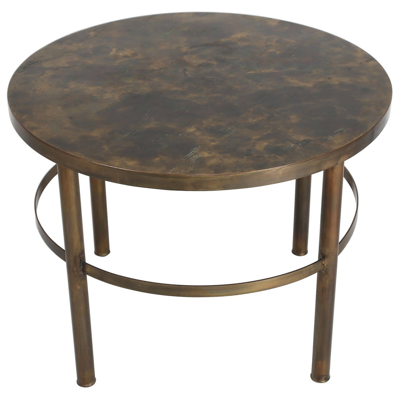 Bronze end table by philip and kelvin laverne circa 1960s - Archives departementales 33 tables decennales ...