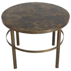 Bronze End Table by Philip and Kelvin LaVerne