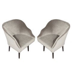 Pair of Swivel Armchairs by Edward Wormley for Dunbar, circa 1960s