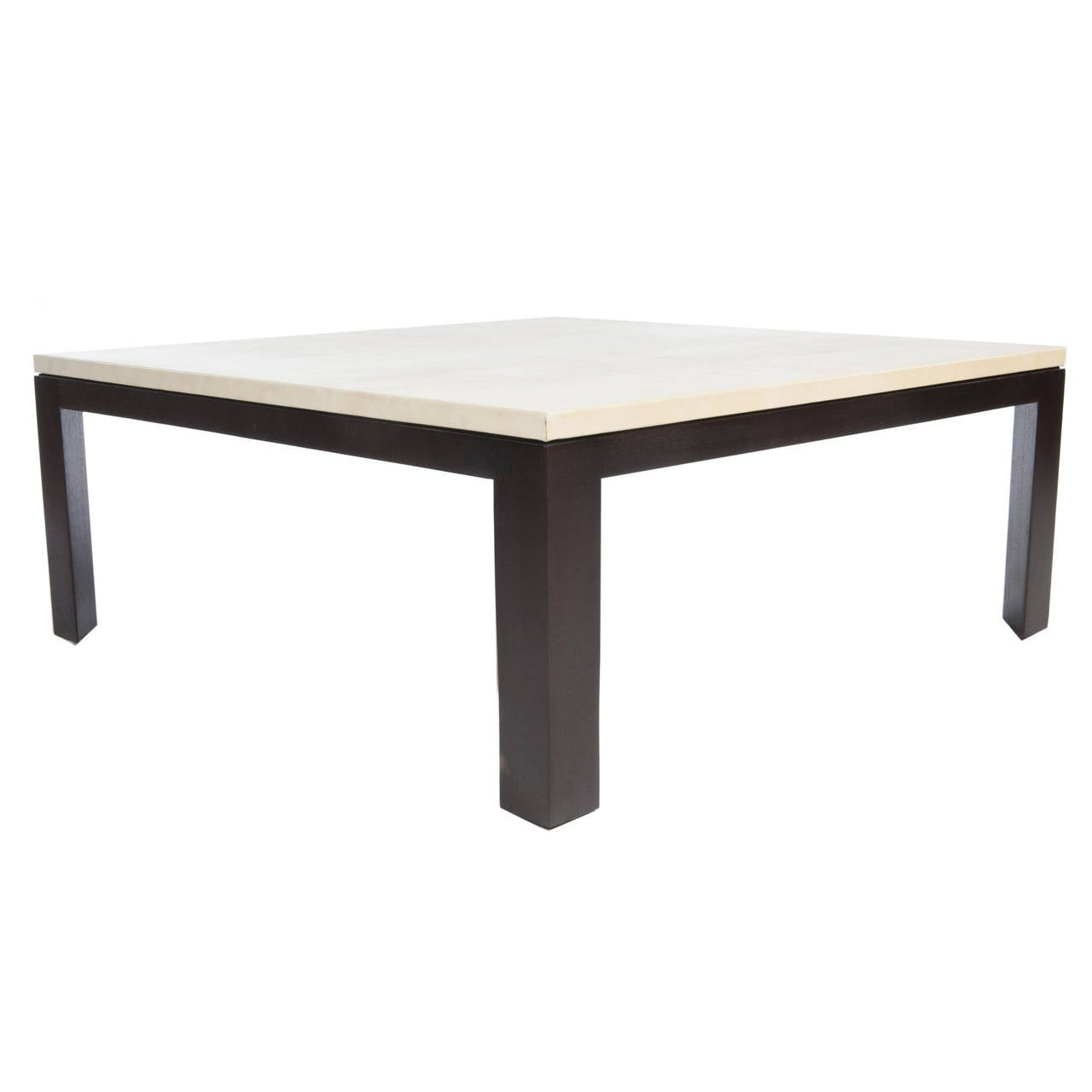 Square leather top cocktail table by edward wormley for dunbar at 1stdibs Square leather coffee table