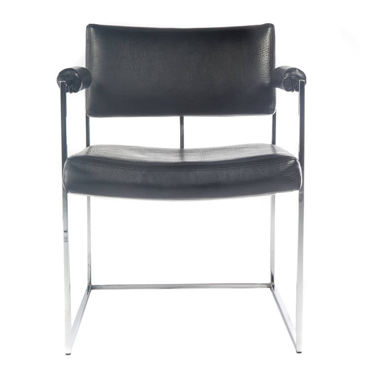 Pair of Milo Baughman for Thayer Coggin Chrome Armchairs, Circa 1970s In Excellent Condition For Sale In Brooklyn, NY