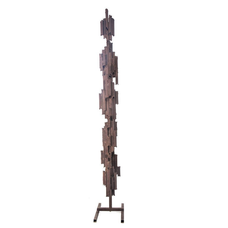 Monumental Brutalist Abstract Steel Floor Sculpture, Circa 1970s In Good Condition For Sale In Brooklyn, NY