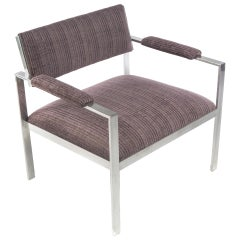 Aluminum Lounge Chair in the Style of Harvey Probber, Circa 1960s