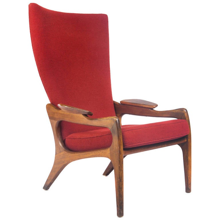High Back Lounge Chair By Adrian Pearsall At 1stdibs