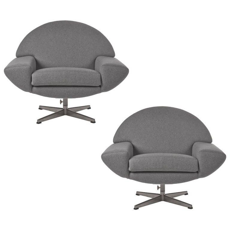 Pair of 1960s Johannes Andersen Capri Swivel Chairs