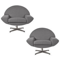 Pair of 1960s Johannes Andersen Capri Swivel Chairs