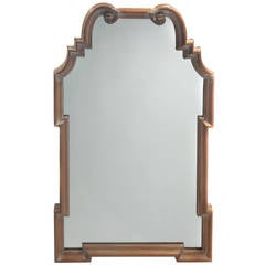 Queen Anne Mirror with Distressed Finish by La Barge, circa 1960s