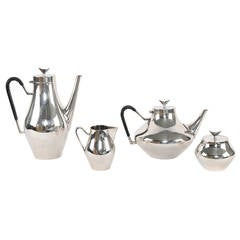 """Denmark"" Silver Coffee & Tea Service by John Prip for Reed & Barton, Circa 1950"