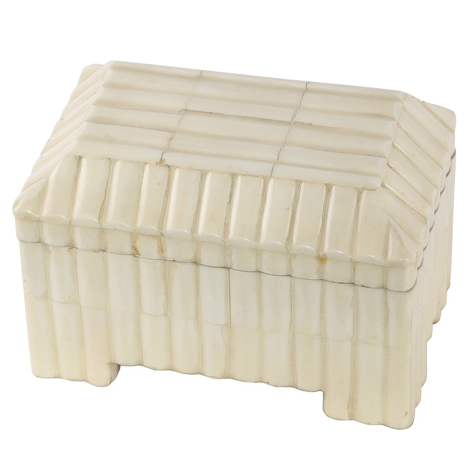 1980s Tessellated-Bone Box by Enrique Garces For Sale