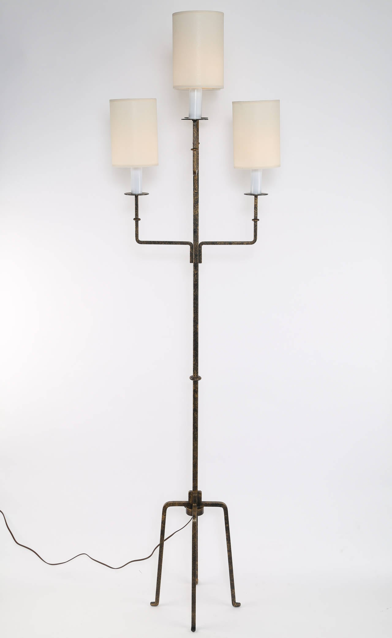 tommi parzinger wrought iron floor lamp at 1stdibs. Black Bedroom Furniture Sets. Home Design Ideas