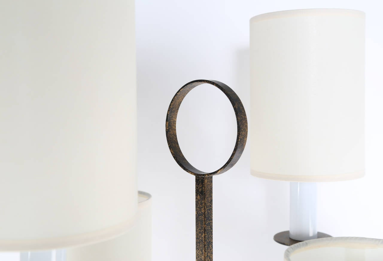 Tommi Parzinger Wrought Iron Floor Lamp At 1stdibs