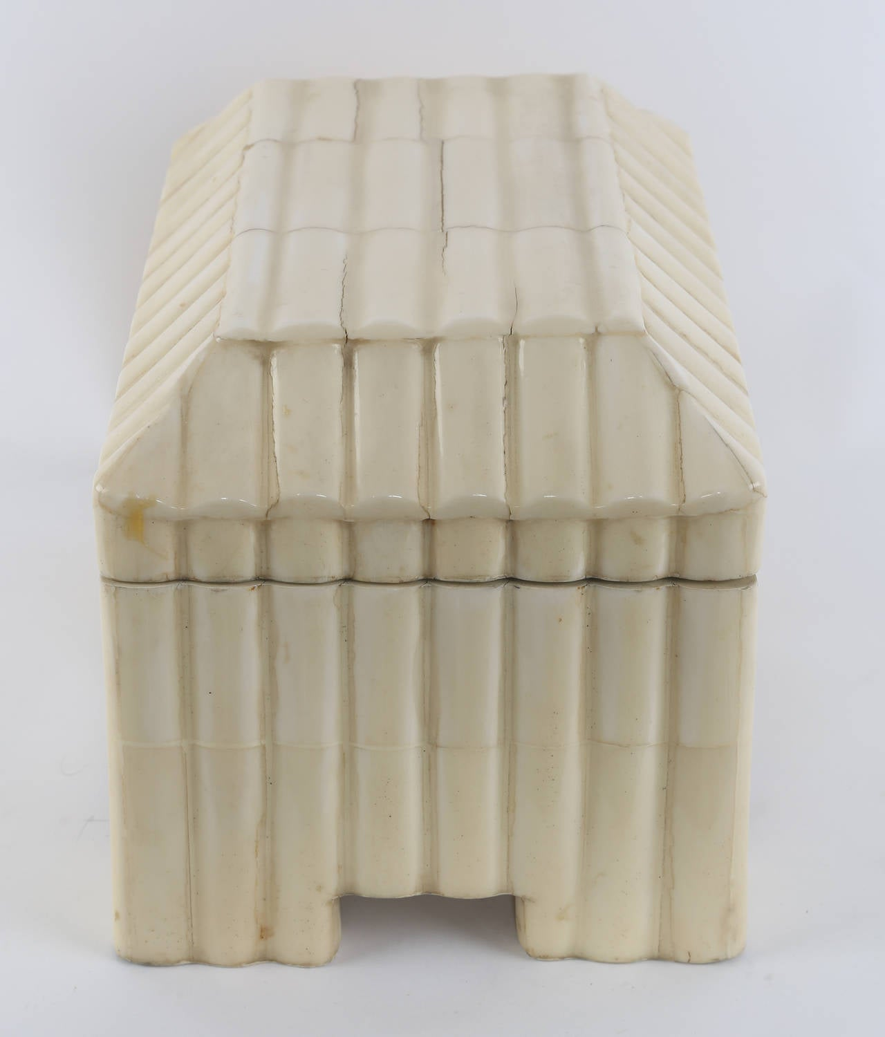20th Century 1980s Tessellated-Bone Box by Enrique Garces For Sale