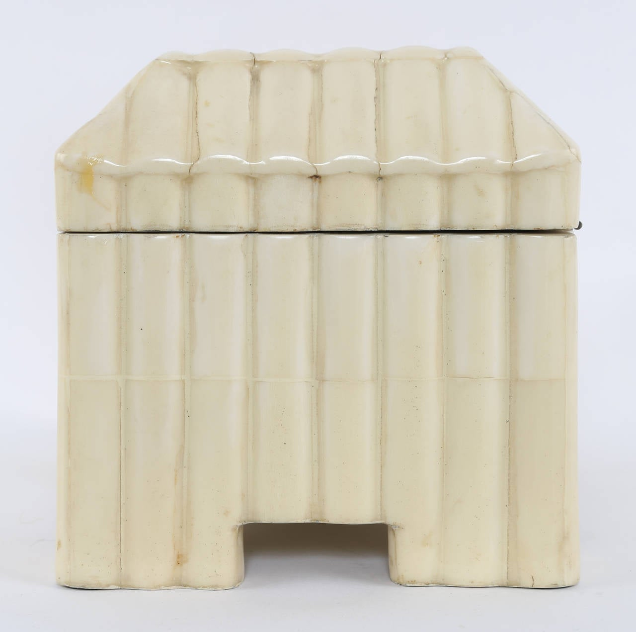 1980s Tessellated-Bone Box by Enrique Garces For Sale 1